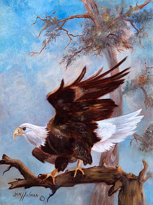 Condor Painting - Soaring High by Jan Holman