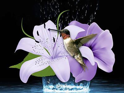 Mixed Media - Soaring Hummingbird by Marvin Blaine