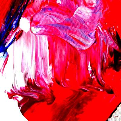Painting - Soaring In Red Abstract Maha by VIVA Anderson