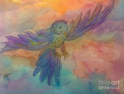 Painting - Soaring On Colorful Wings by Ellen Levinson