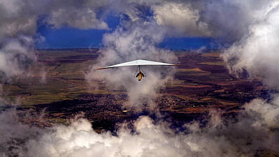 Art Print featuring the photograph Soaring Through The Clouds by Susan Rissi Tregoning