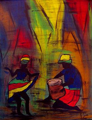 Soca Dancing Art Print by Glenda  Jones