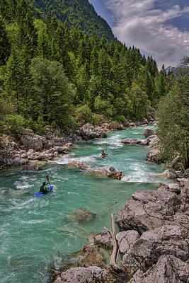 Photograph - Soca River Kayakers by Stuart Litoff