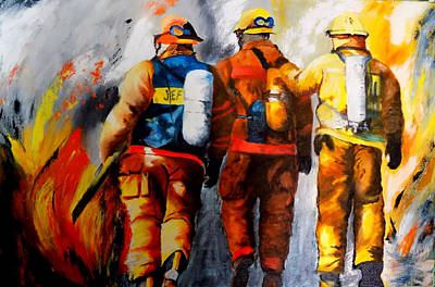 Painting - Socal Heroes by Maris Sherwood