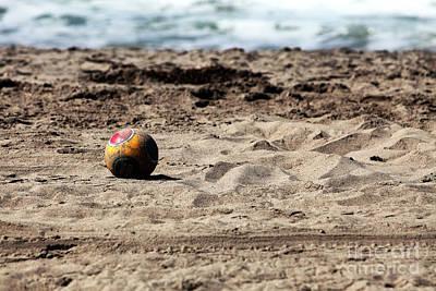 Photograph - Soccer Ball At Zuma by John Rizzuto