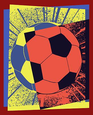 Wall Art - Digital Art - Soccer Ball Pop Art by David G Paul