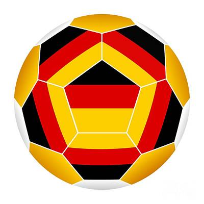 Digital Art - Soccer Ball With German Flag by Michal Boubin