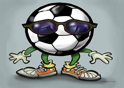 Soccer Cool Art Print by Kevin Middleton
