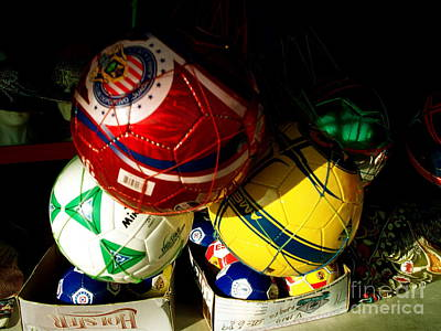 Soccer For Sale Art Print by Chuck Taylor