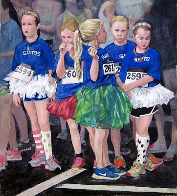 Painting - Soccer Girls by Mark Lunde