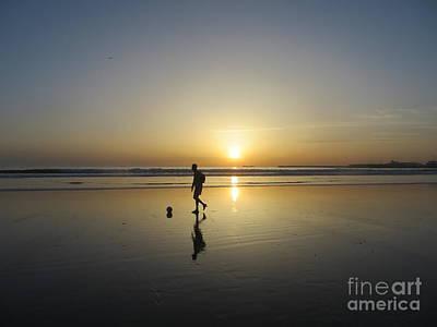 Agadir Photograph - Soccer In The Setting Sun by Lorita Montgomery