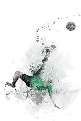 Athletic Digital Art - Soccer Player by Marlene Watson