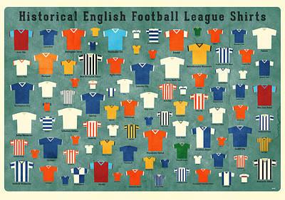 Cartoonist Digital Art - Soccer Shirts by Daviz Industries