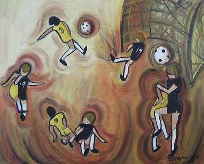 Suzanne Marie Molleur Painting - Soccer by Suzanne  Marie Leclair