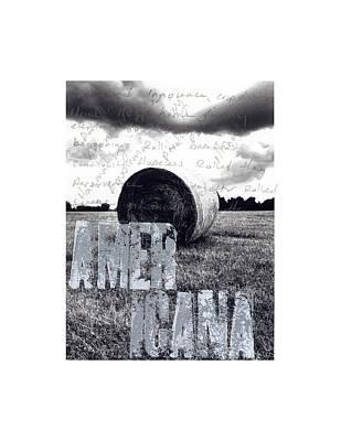 Twitter Mixed Media - #socialques Americana by Steve Hartman