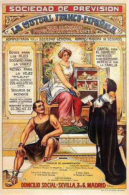 Mixed Media - Sociedad De Prevision - Spanish - Vintage Advertising Poster by Studio Grafiikka