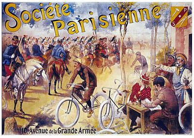 Mixed Media - Societe Parisienne - Paris Society - Vintage French Advertising Poster by Studio Grafiikka
