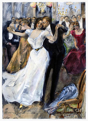 Society Ball, C1900 Art Print by Granger