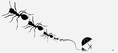 Society Of The Umbrella Ants Part One Art Print