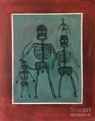 Painting - Sock Monkey Family X Ray by Randy Burns