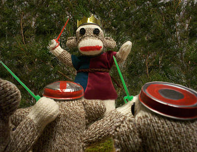 David Jones Photograph - Sock Monkey King Henry V by David Jones