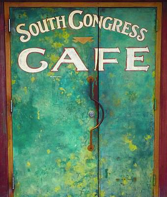 Soco Cafe Doors Art Print