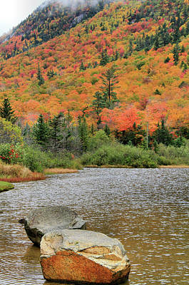 Photograph - Soco Lake Crawford Notch In Autumn by Dan Sproul