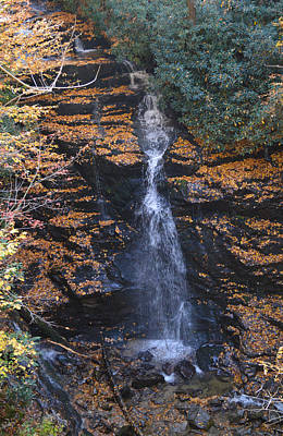 Photograph - Soco Waterfall Cherokee North Carolina by rd Erickson