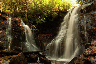 Photograph - Soco Waterfalls From Spillway by Chris Flees