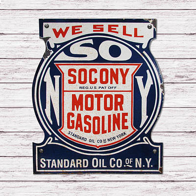 Painting - Socony Sign by Gary Grayson