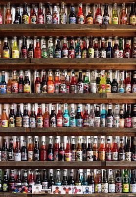 Soda Bottles Art Print