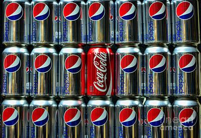 Cocacola Photograph - Soda - Coke Vs. Pepsi by Paul Ward