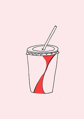 Soda Cup Art Print