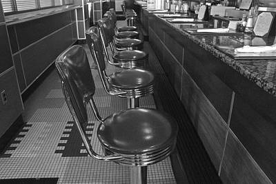 Stools And Counter Photograph - Soda Fountain Counter 1 by Denise Mazzocco