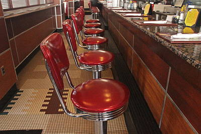 Photograph - Soda Fountain Counter by Denise Mazzocco