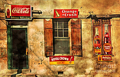 Photograph - Coca Cola With Other Soda Pop Vintage Tin Signs by John Stephens