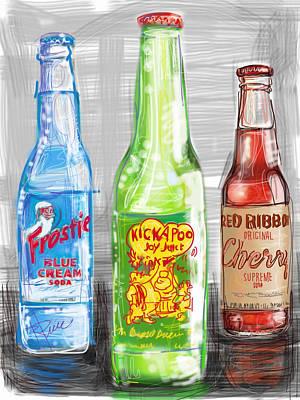 Soda Pops Art Print by Russell Pierce