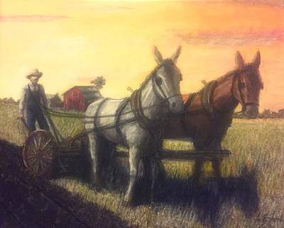 Texas Farm House Painting - Sodbuster by Larry Lamb