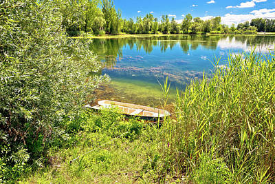 Photograph - Soderica Lake Green Landscape View by Brch Photography