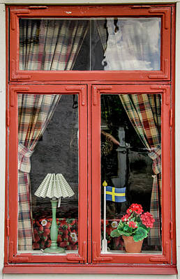 Photograph - Soderkoping Window by KG Thienemann