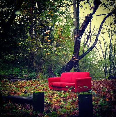Photograph - Sofa In The Woods by Eliaichi Kimaro