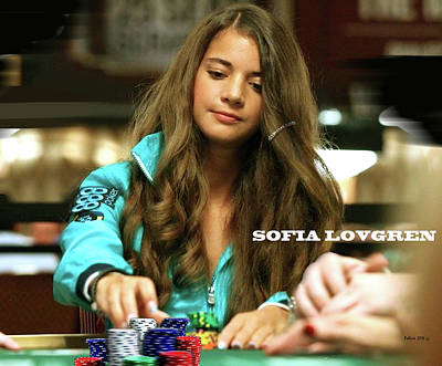 Sofia Lovgren, World Series Of Poker Art Print