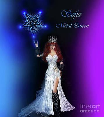 Sofia Metal Queen. Lights And Pentagram Art Print by Sofia Metal Queen