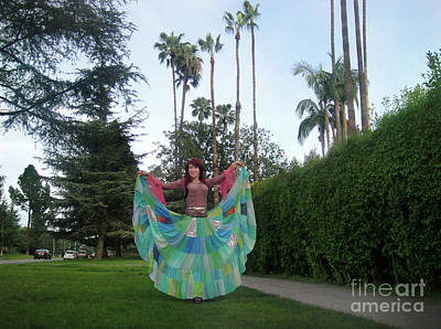Circle Skirt Photograph - Sofia Of Ameynra. Gypsy Hippie Dance by Sofia Metal Queen