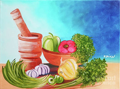 Puerto Rico Painting - Sofrito  by Evelyn Diaz