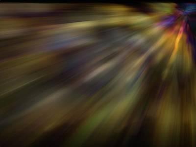 Soft Amber Blur Art Print by Carol Crisafi