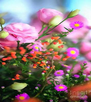 Painting - Soft And Dreamy Florals On Canvas by Catherine Lott