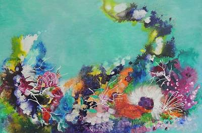 Painting - Soft And Hard Corals by Lyn Olsen