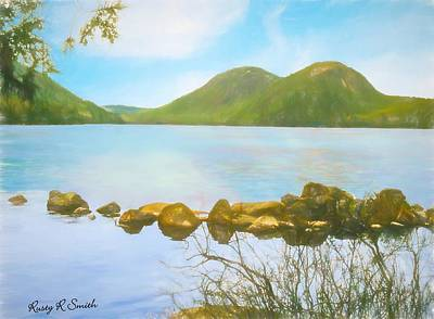 Digital Art - Soft Art Photograph Jordan Pond Acadia Nat. Park Maine by Rusty R Smith