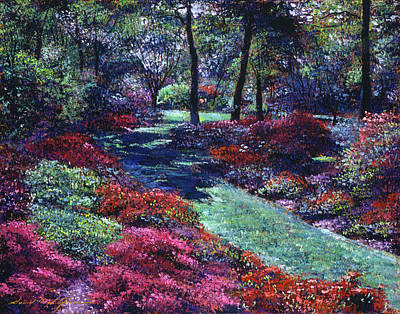 Painting - Soft Azaleas by David Lloyd Glover